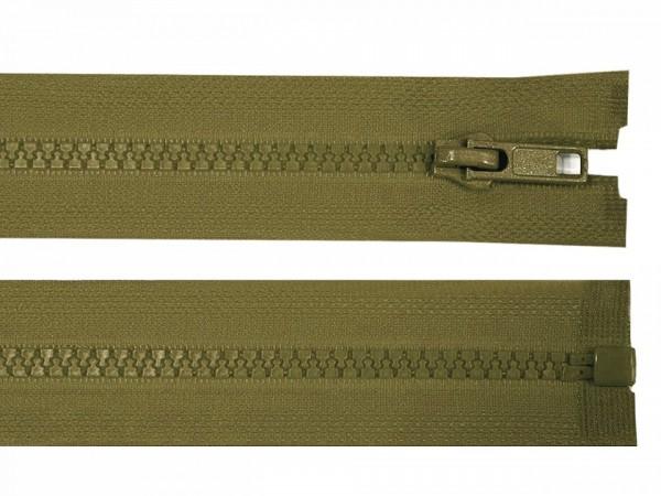 teilbarer Reißverschluss - olive - 60 cm - 1 Stk