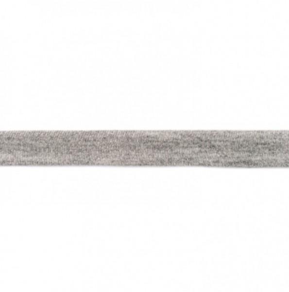 Baumwolljersey Einfassband - grau meliert -