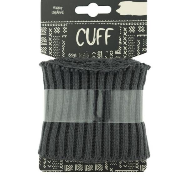 Cuff - Rippe - uni - dunkelgrau