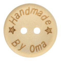 Holzknopf - Handmade by oma - Größe 32 - 20mm