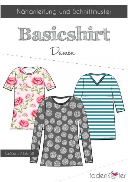 Papierschnittmuster - Basic-Shirt - Damen
