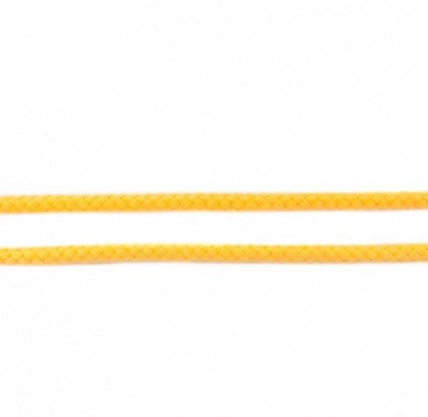 runde geflochtene Hoodiekordel - gelb - 8mm -