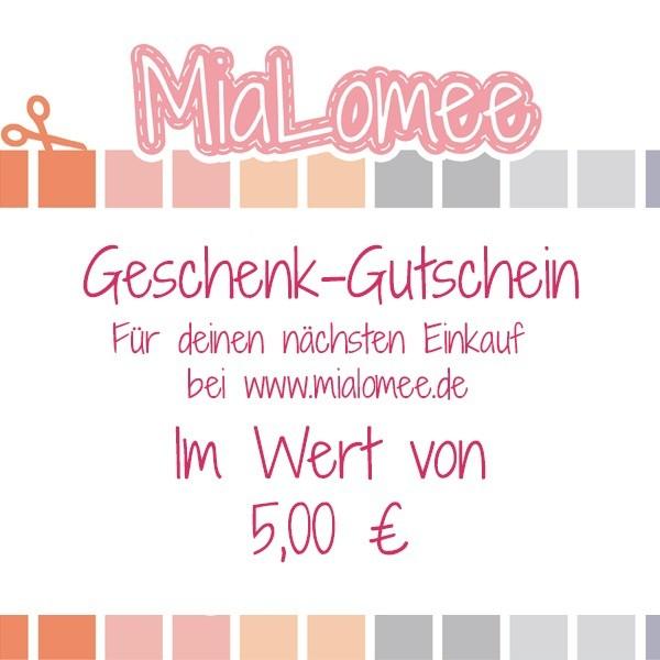 Geschenk-Gutschein - 5 €uro