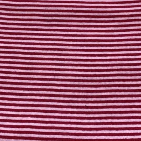 Bündchen - Feinripp - Ringel - rot-rosa
