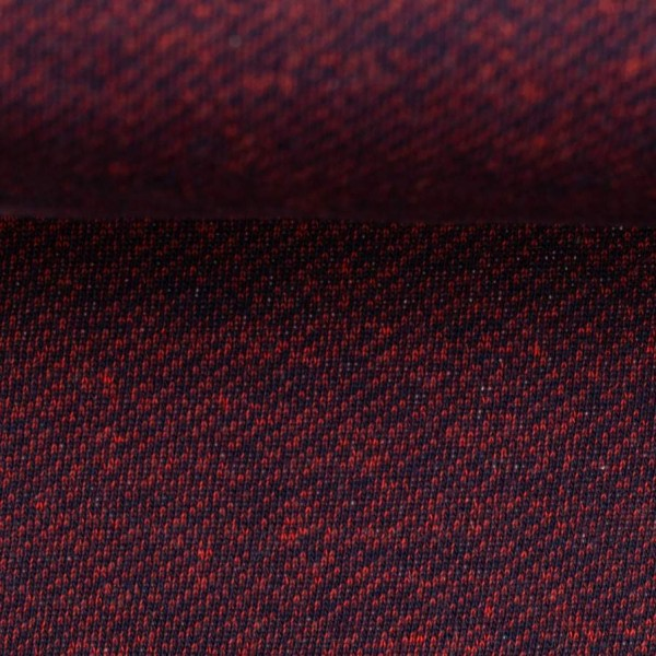 Swafing - Piet - dunkelblau-rot - Sweat mit Fleeceabseite