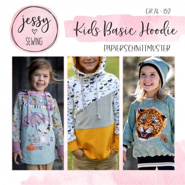 Papierschnittmuster - Jessy Sewing - Kids Basic Hoodie