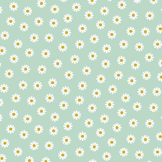 Daisy - Gänseblümchen - mint - Popeline