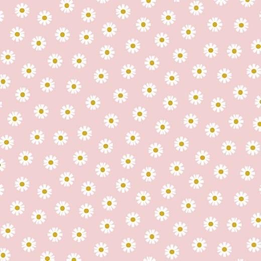 Daisy - Gänseblümchen - hellrosa - Popeline