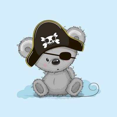 Panel - Piraten-Koala - French Terry