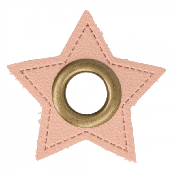 Ösenpatch - Stern - 8mm - rosa-gold