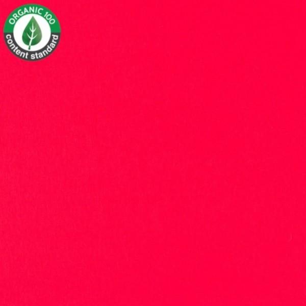 Bio - Baumwoll Jersey - uni - rot -