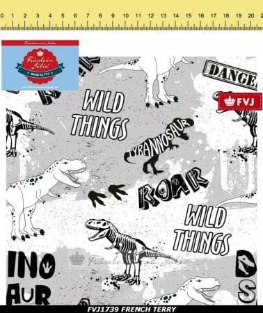 Fräulein von Julie - Wild Dino Things - French Terry