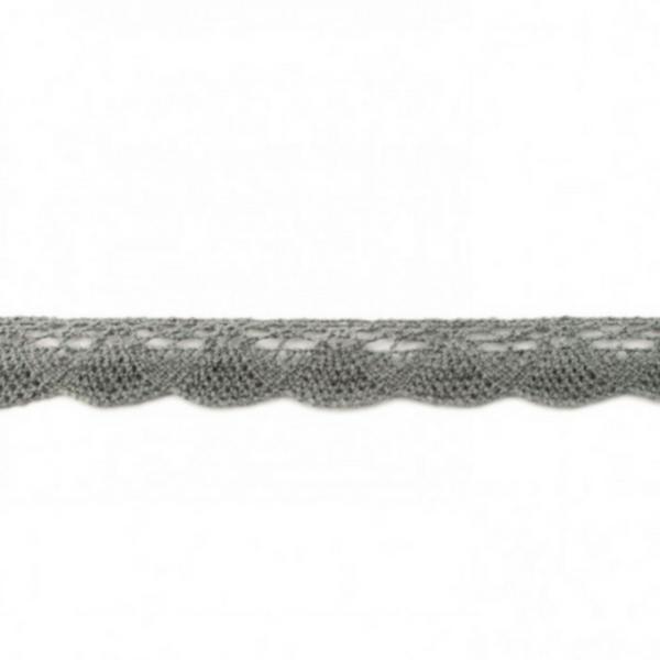 Klöppelspitze - dunkel grau - 19 mm -