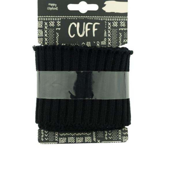 Cuff - Rippe - uni - schwarz