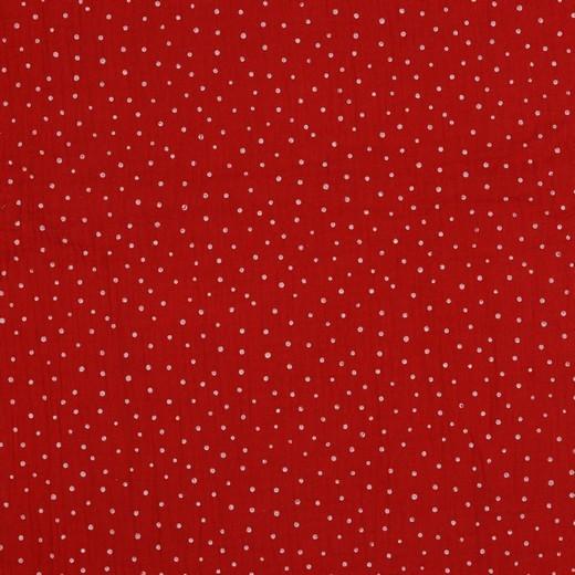 kleine Punkte - rot - Musselin