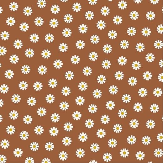 Daisy - Gänseblümchen - braun - Popeline