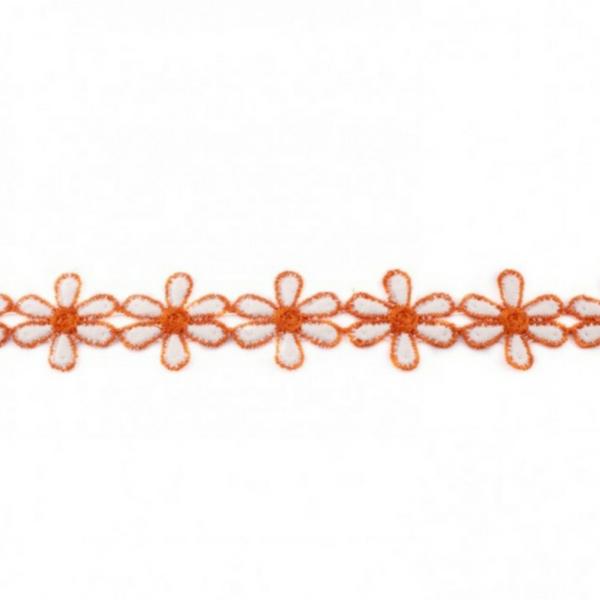 Blumen Borte - orange - 3 cm -