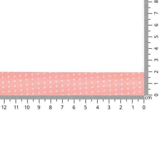 Baumwoll Einfassband - gepunktet - 20mm - apricot