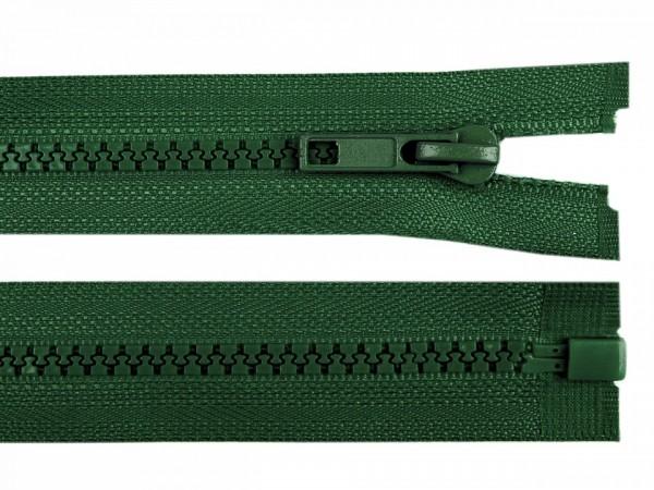 teilbarer Reißverschluss - flaschengrün - 60 cm - 1 Stk