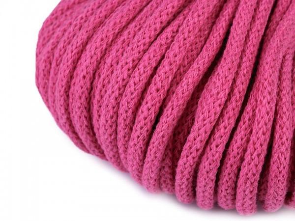 weiche Baumwollkordel - rund - pink - 5 mm