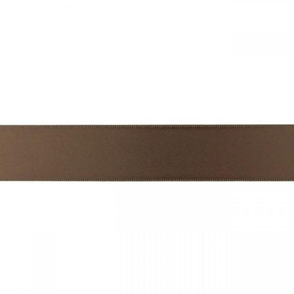 Zierband - dunkelbraun - 25mm