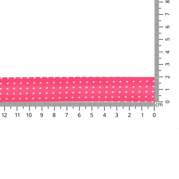 Baumwoll Einfassband - gepunktet - 20mm - pink