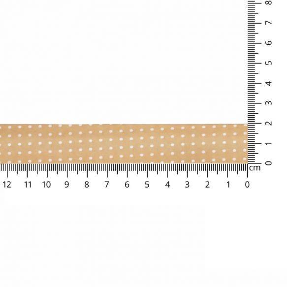 Baumwoll Einfassband - gepunktet - 20mm - sand
