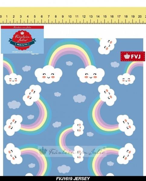 Fräulein von Julie - over the rainbow - blau - BW-Jersey