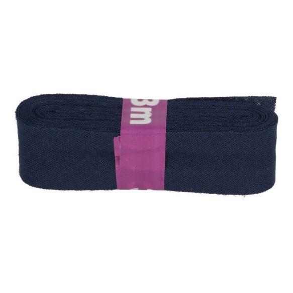 Baumwoll Einfassband - 12mm - dunkelblau - 3m