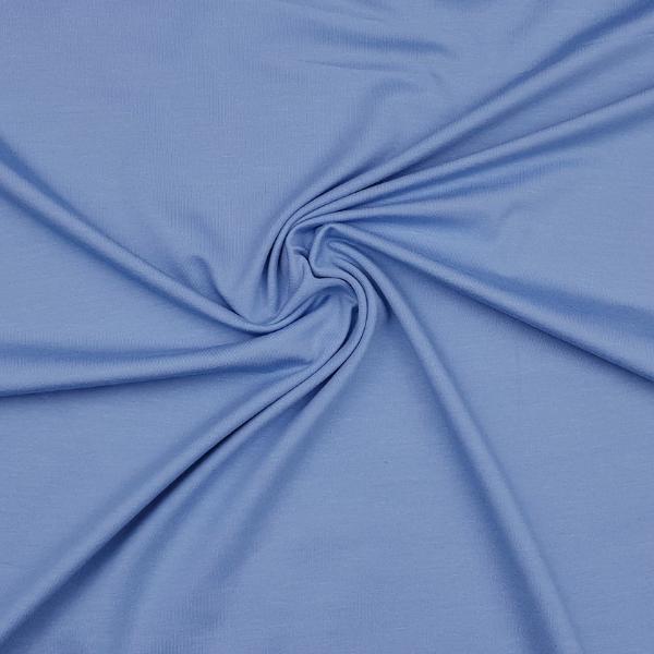 Baumwoll Jersey - uni - stahlblau