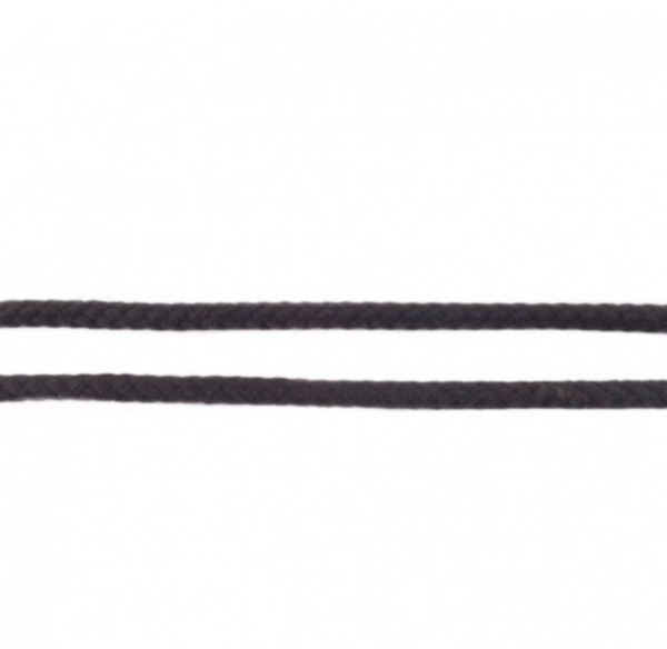 runde geflochtene Hoodiekordel - schwarz - 8mm -