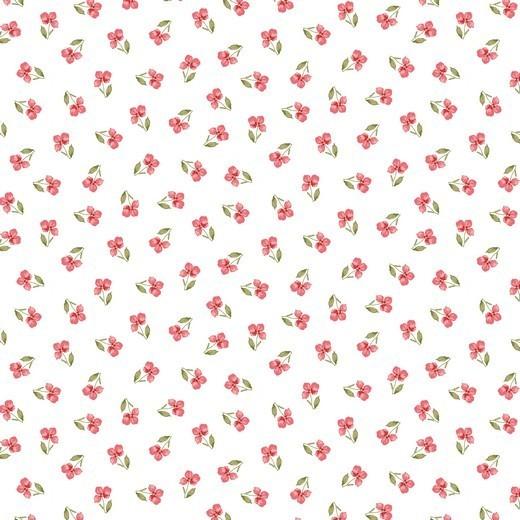 Flower - Streublume - weiß - Popeline GOTS