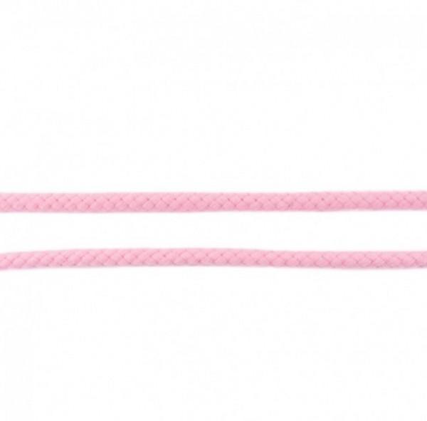runde geflochtene Hoodiekordel - rosa - 8mm -