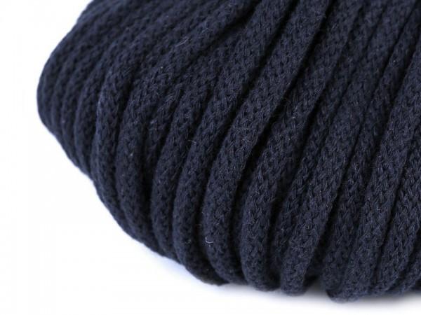 weiche Baumwollkordel - rund - dunkelblau - 5 mm