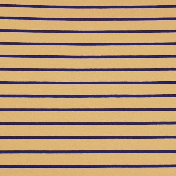 Stripes - ocker/navy - Sommersweat