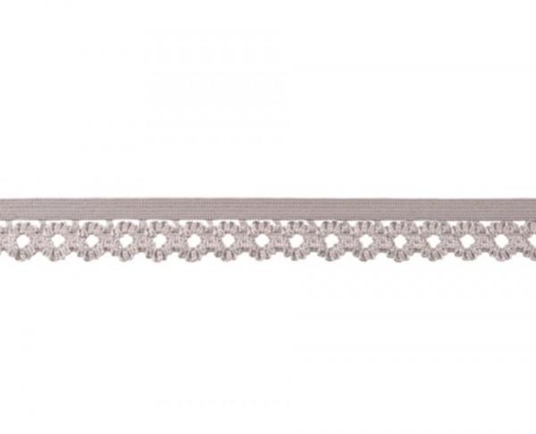 Elastische Spitze - 20mm - grau -