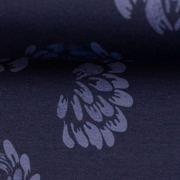 Swafing - Jesse - big flowers - blau - BW-Jersey