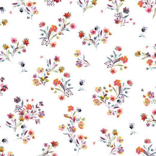 Streublümchen - weiß - BW-Jersey