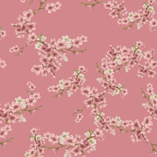 Kirschblüte - rosa - Soft Sweat GOTS