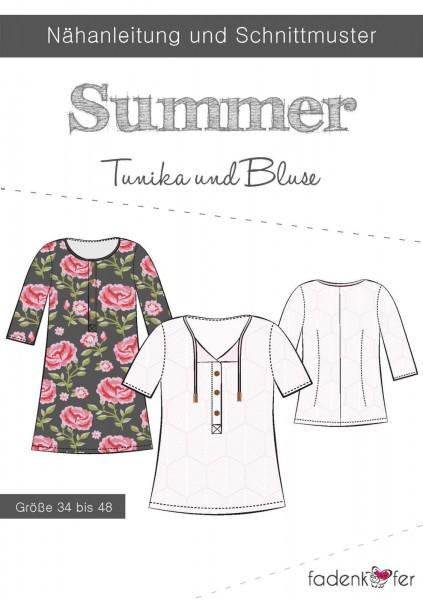Papierschnittmuster - Fadenkäfer - Summer - Tunika und Bluse