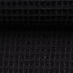 Waffel Piquet - schwarz