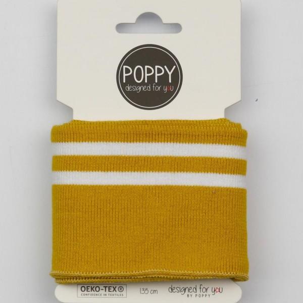 Cuff Stripes - Feinripp - ocker