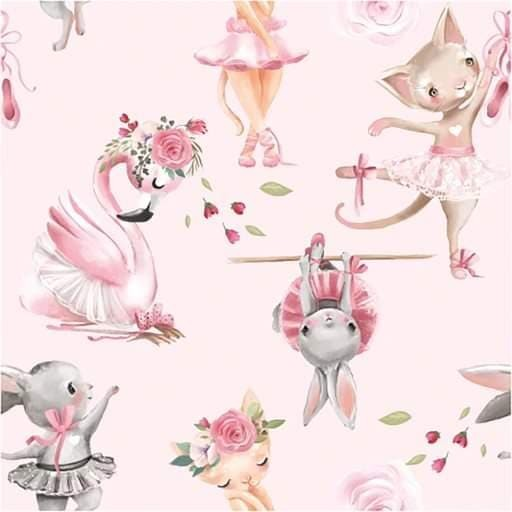 Ballerina Tiere - French Terry