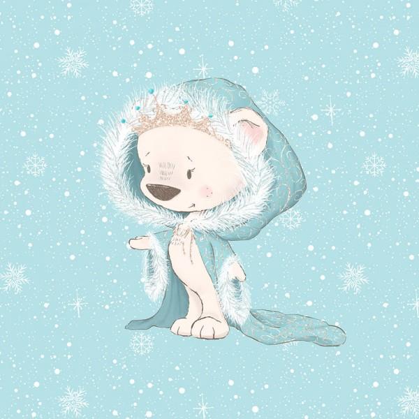 Schneegestöber - Panel - Königin des Eis - French Terry