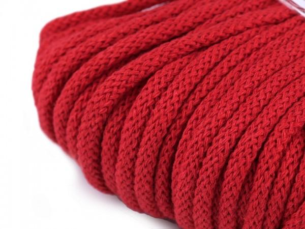 weiche Baumwollkordel - rund - rot - 5 mm