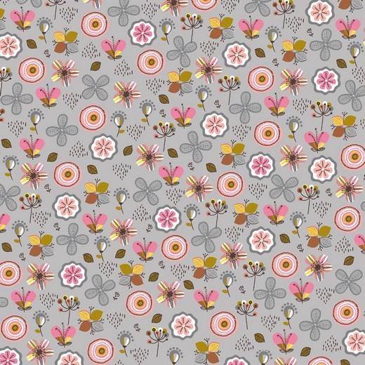 Little Flowers - grau - Soft Sweat