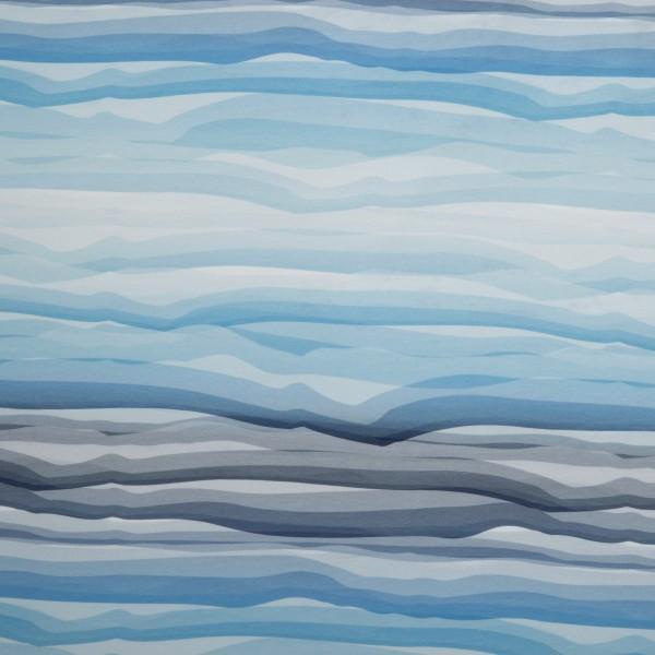Swafing - Wavy Stripes - blau - Jersey Baumwolle