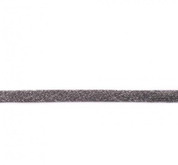 Flache Hoodiekordel - dunkel grau meliert - 17mm -