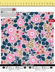Fräulein von Julie - Pink Blooms - Baumwolljersey