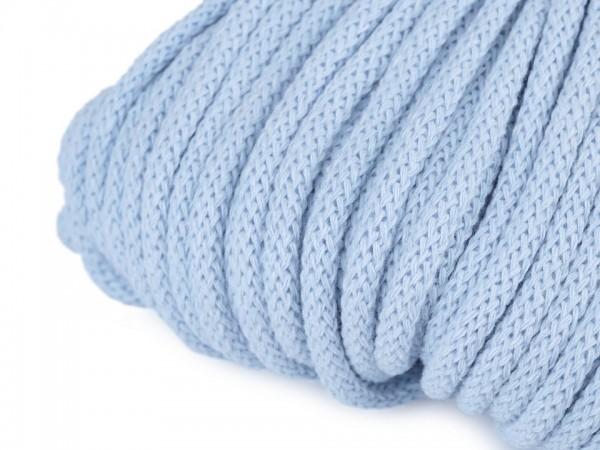 weiche Baumwollkordel - rund - veilchenblau - 5 mm
